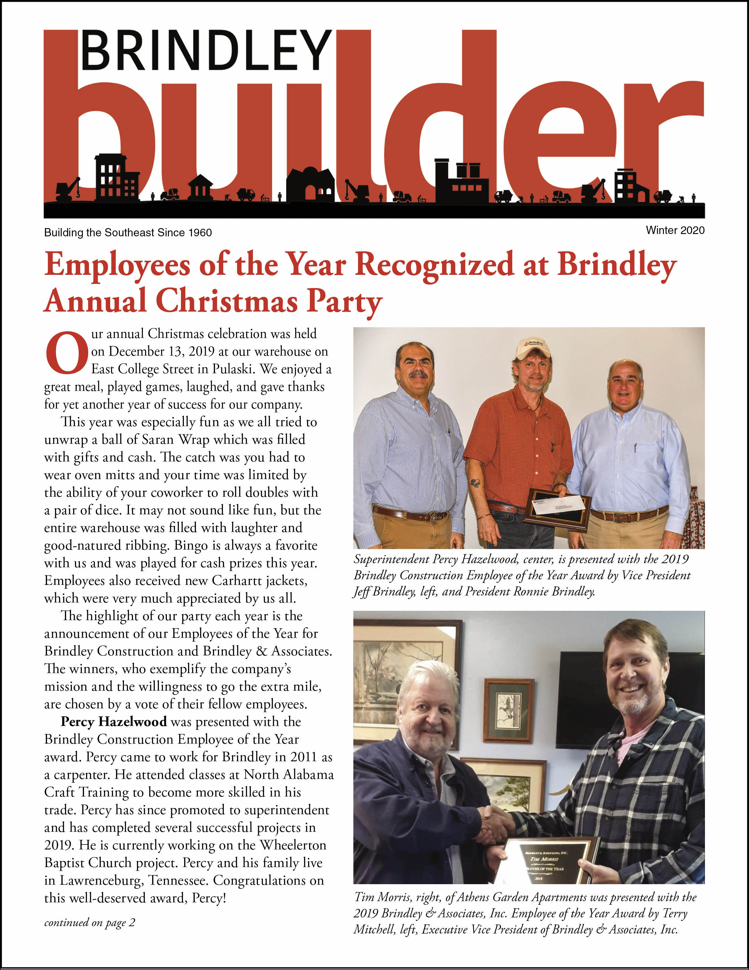 The Brindley Builder | Winter 2020 Issue | Brindley Construction