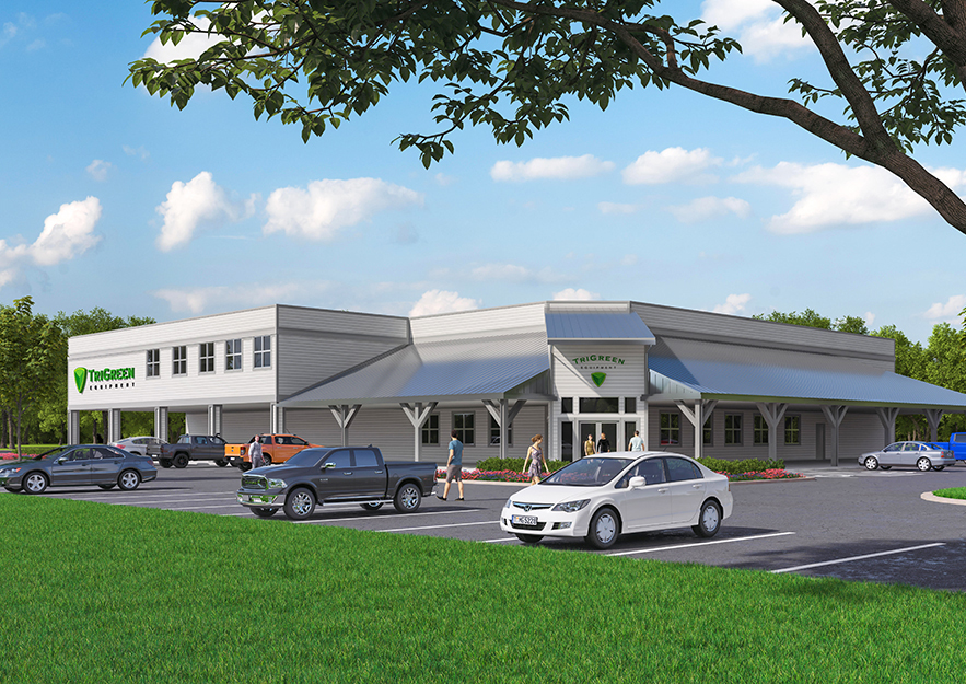 TriGreen Equipment Dealership | Columbia, Tennessee | Brindley Construction