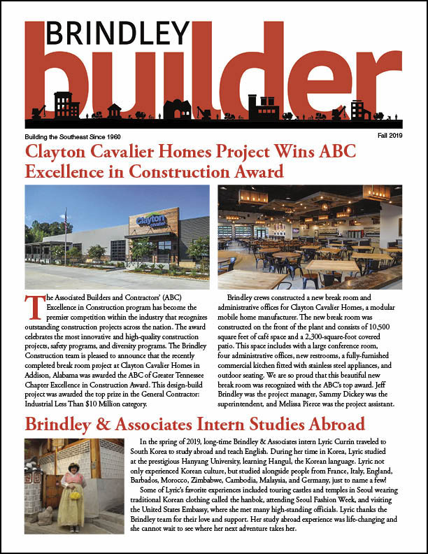 The Brindley Builder | Fall 2019 Issue | Brindley Construction