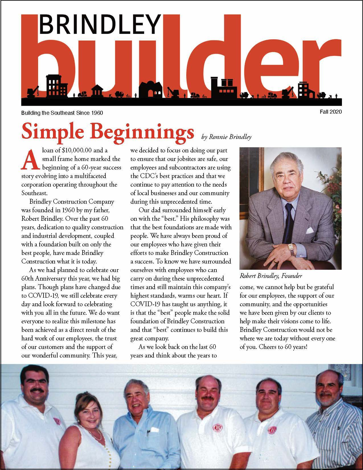 The Brindley Builder | Fall 2020 Issue | Brindley Construction