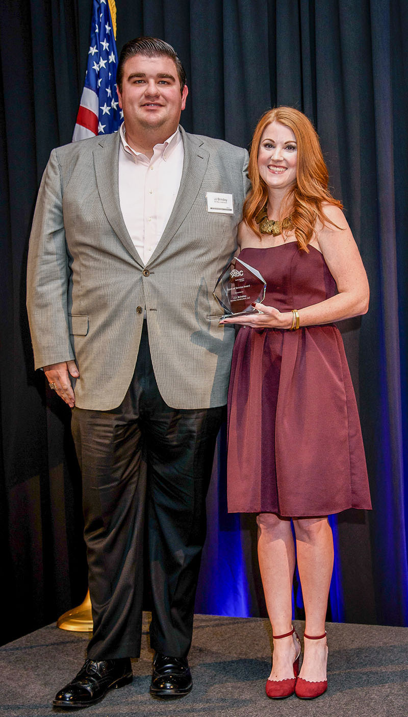 J.J. Brindley Honored with ABC Spirit of Service Award